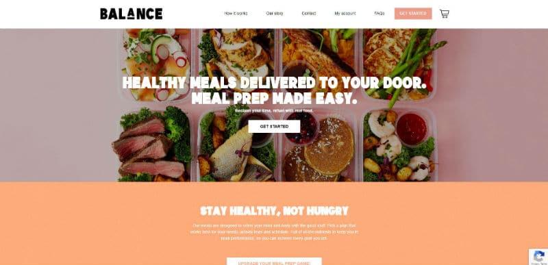 Balance Meals vegan meal prep