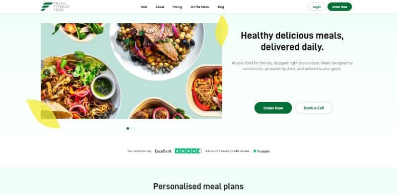 Fresh Fitness Food vegan bespoke meal prep