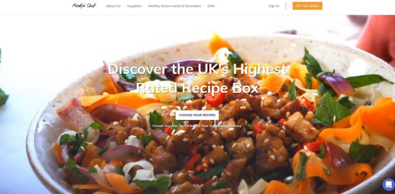 Mindful Chef vegan recipe boxes