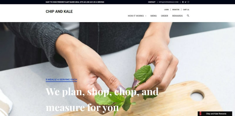 Chip and Kale website