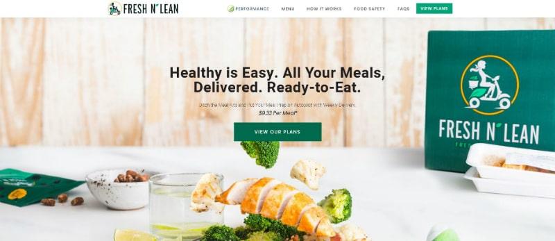Fresh n Lean website