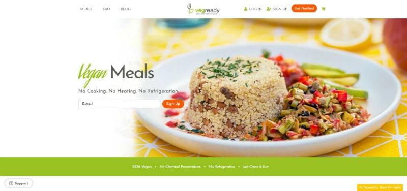 Vegready website
