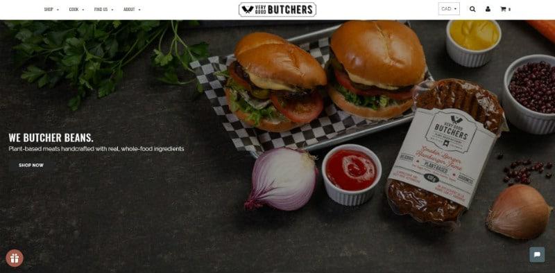 Vert Good Butchers website