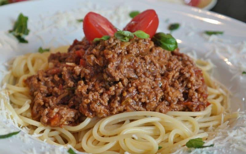 vegan spaghetti bolgnese