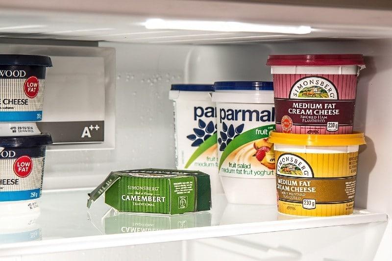 cheese in the fridge