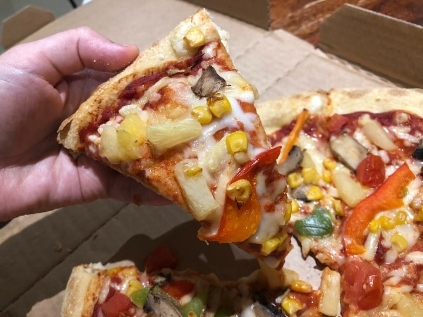 Vegan Domino's pizza