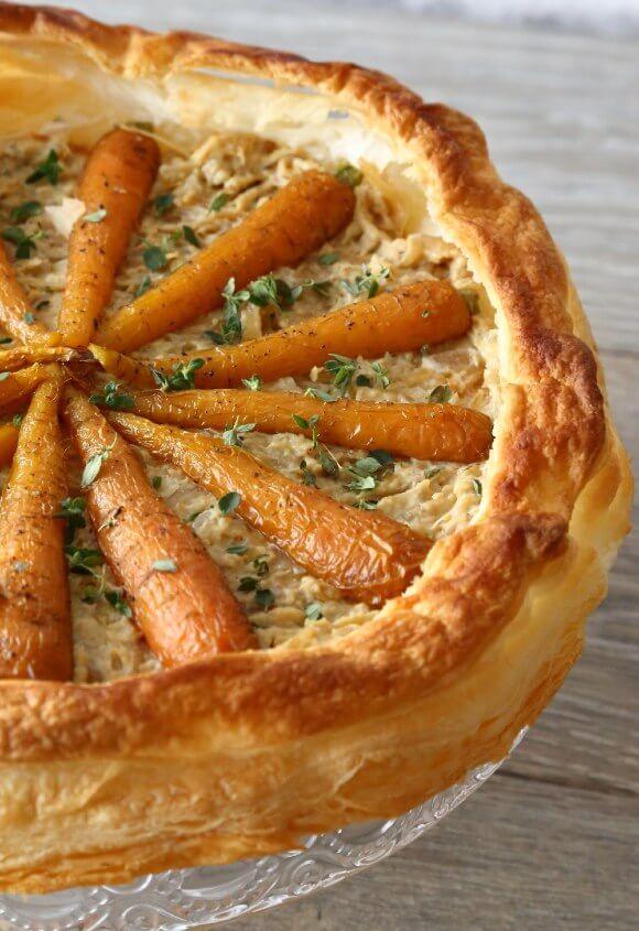 hummus and carrot tart