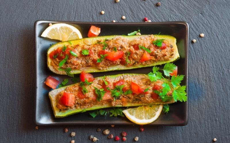 Baked Stuffed Courgette