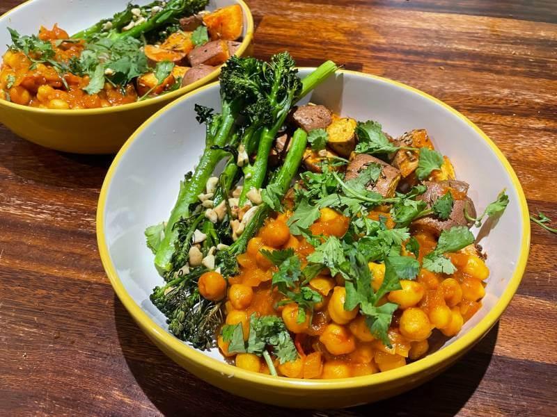 Green Chef vegan Chana Masala meal
