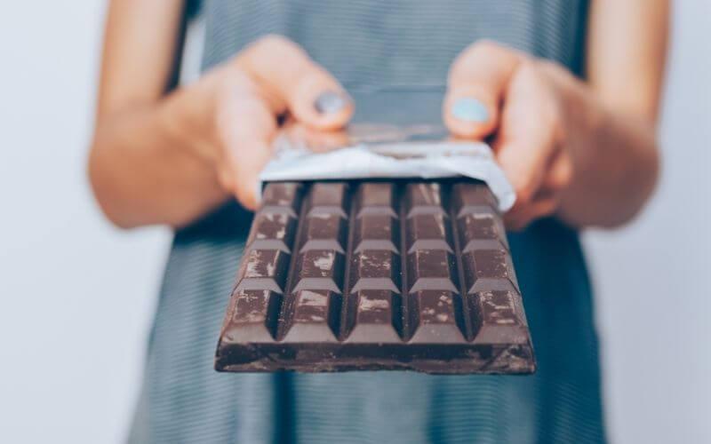 Vegan dark chocolate bar