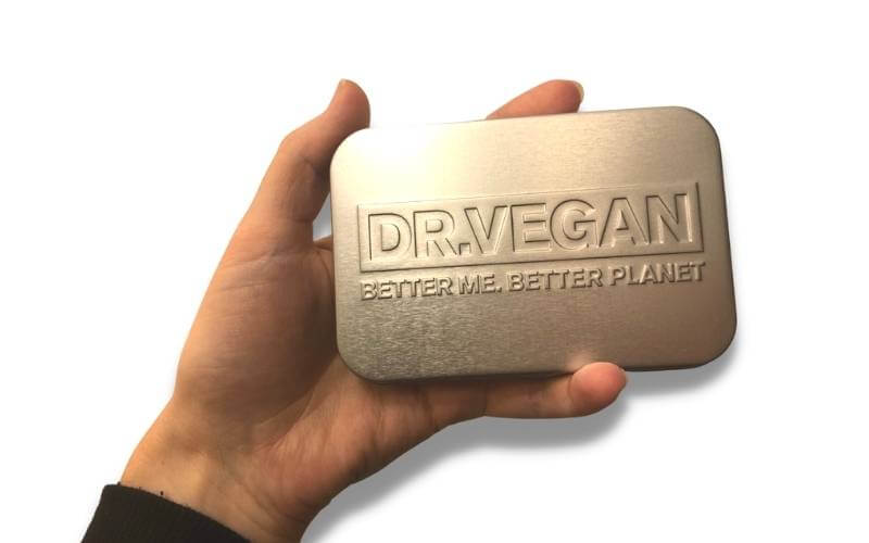 Dr Vegan pill tin