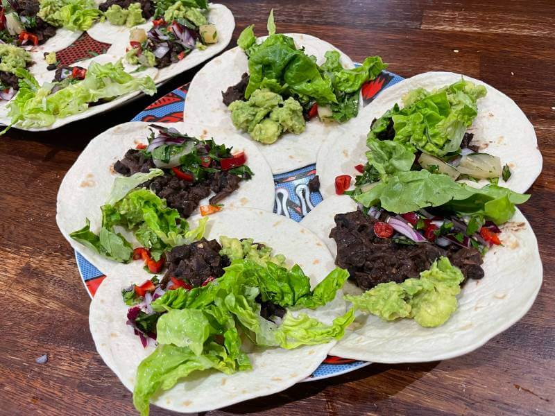 Feast Box vegan tacos on plate (1)