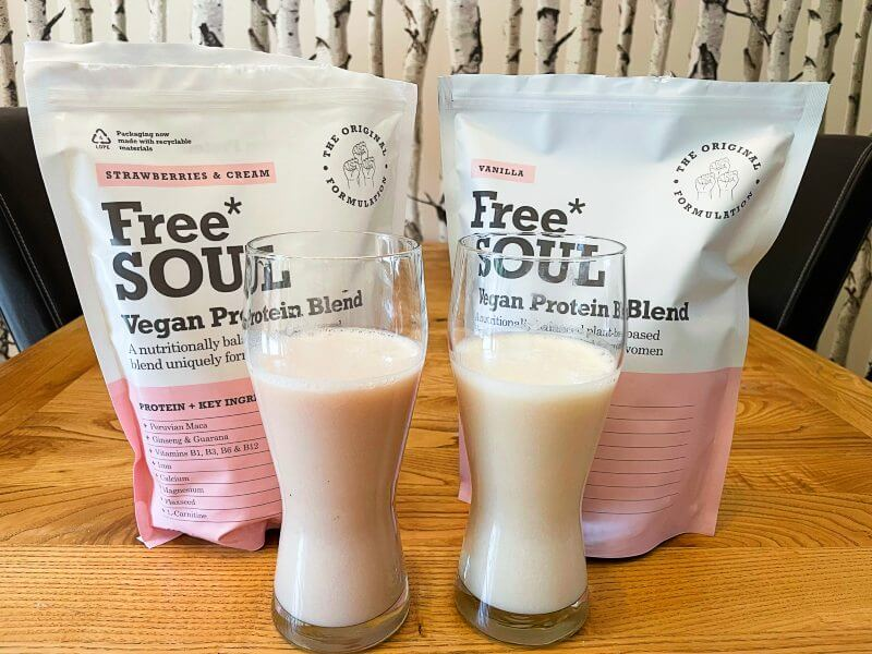 Free Soul Strawberries & Cream and Vanilla shakes