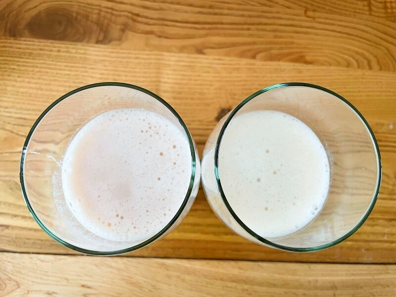 two glasses with Free Soul shakes