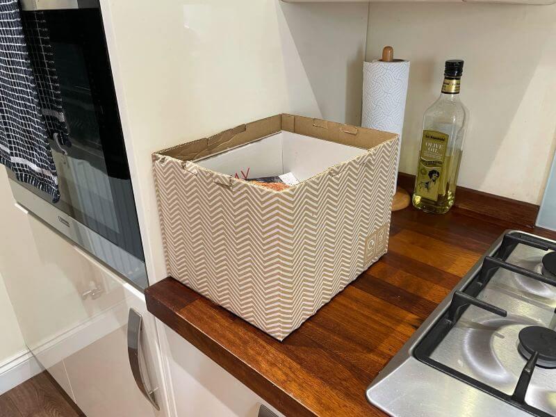 Gousto box in kitchen