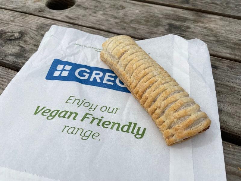 vegan sausage roll from Greggs
