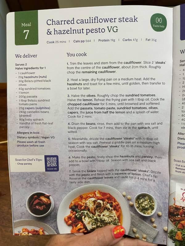 Mindful Chef recipe book