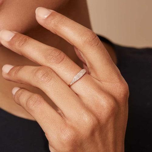 Vegan diamond ring