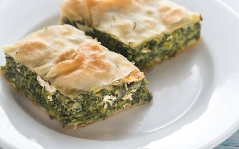 Spinach and Sweetcorn Pie