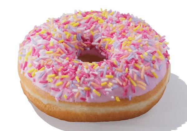 Greggs sprinkle donut vegan