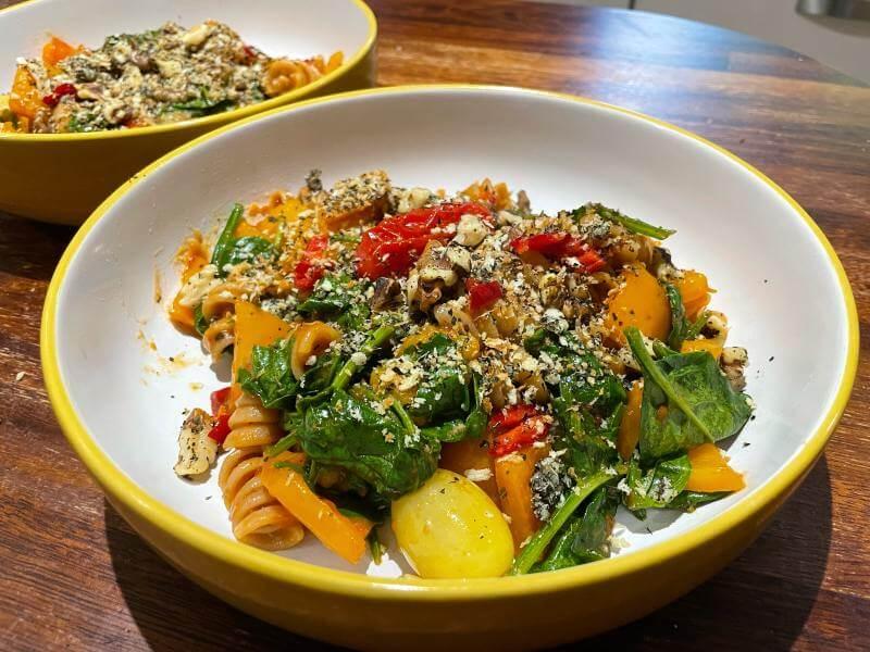 Green Chef vegan Tomato Arrabiata Fusilli meal