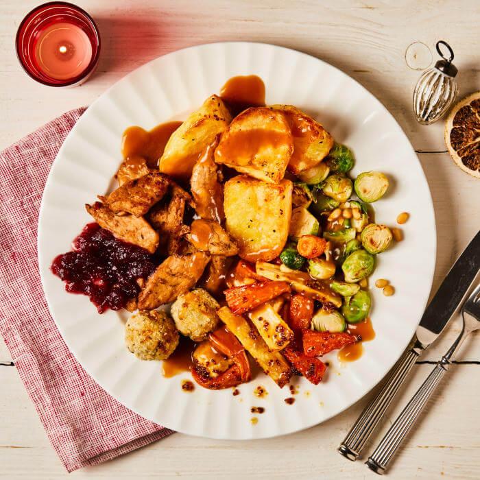 Gousto vegan Christmas dinner