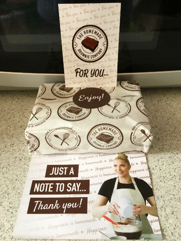 Homemade Brownie Company packaging