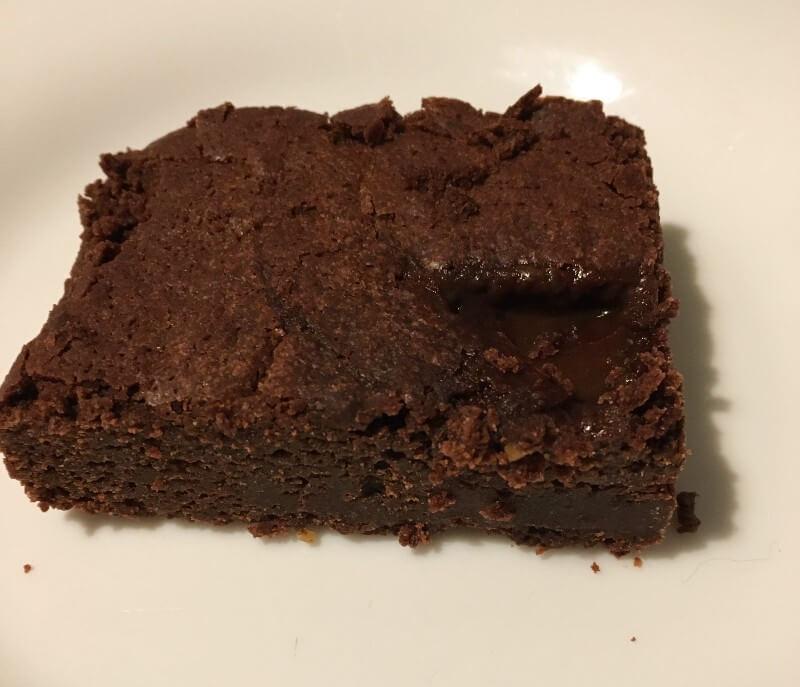 vegan salted caramel brownie