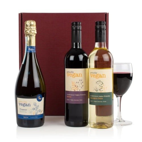 Vegan wine gift box